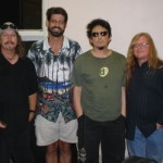 3 Legged Lost Dogs l-r Terry Scott Taylor (Daniel Amos), me, Michael Roe (The 77's), Derry Daugherty (The Choir)