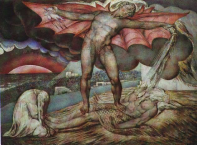 Blake - Satan Inflicting Boils on Job