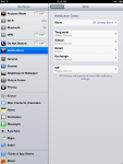 Mail Notification Settings on the iPad