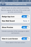 Mail Notification Settings on the iPhone